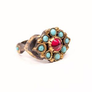 Antika Topkapi Ring // Handmade // Brass // 7.5